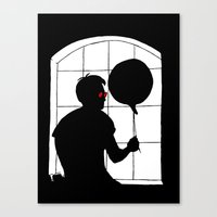 daredevil Canvas Prints featuring Daredevil by Boring Palace