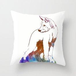 Dingo puppy - Ria Loader Throw Pillow