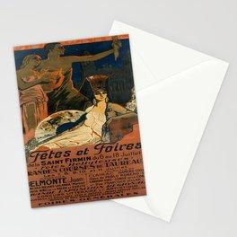 retro pamplona fêtes et foires. 1926  Stationery Cards