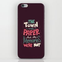 paper towns iPhone & iPod Skins featuring Paper Towns: Town and Memories by Risa Rodil