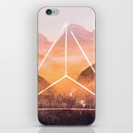 The Elements Geometric Nature Element of Fire iPhone Skin