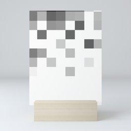 Gray Scale In Pixels Mini Art Print