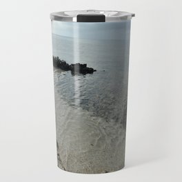 Your own private beach...  Travel Mug
