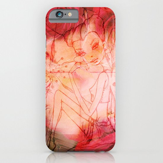 girl butterfly iPhone & iPod Case