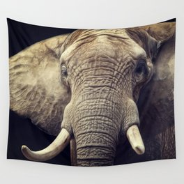 Elephant portrait Wall Tapestry