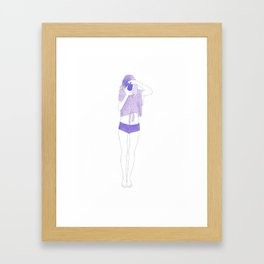 Typical Girl Lindy Framed Art Print