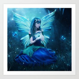 Blue Magic Art Print
