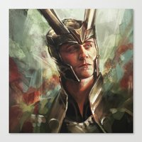 prince Canvas Prints featuring The Prince of Asgard by Alice X. Zhang