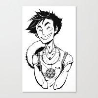 luffy Canvas Prints featuring Luffy by Ida Dobnik