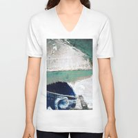 surf V-neck T-shirts featuring Surf by Bella Blue Photography