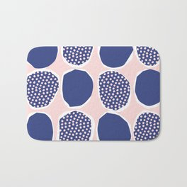Polka Collage Pattern - Pink and Blue Bath Mat