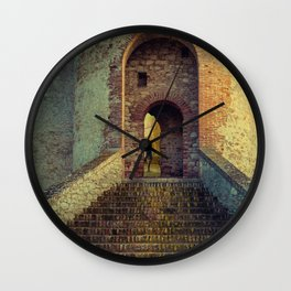 Medieval Fortress Wall Clock