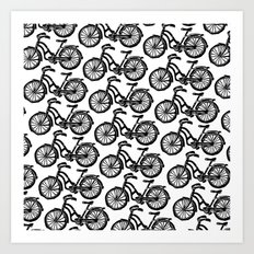 roule ma poule - wanna ride my bicycle BLACK Art Print