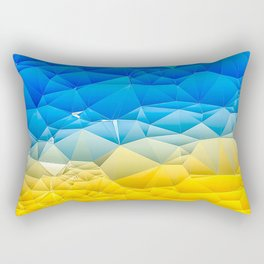 Sunshine and Blue Sky Quilted Abstract Rectangular Pillow