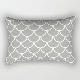 Grey Fish Scales Pattern Rectangular Pillow