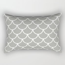 Grey Fish Scales Pattern Rectangular Pillow