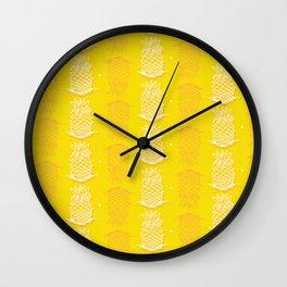 I really like Yellow pinapples Wall Clock