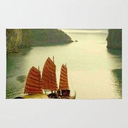 Vietnam Halong Bay Tourism Print Rug