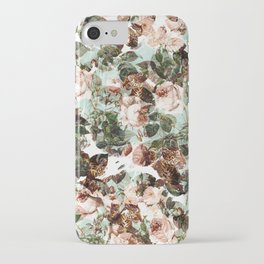 Floral and Leopard Pattern iPhone Case
