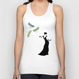 Dame of Dragonfly Unisex Tank Top