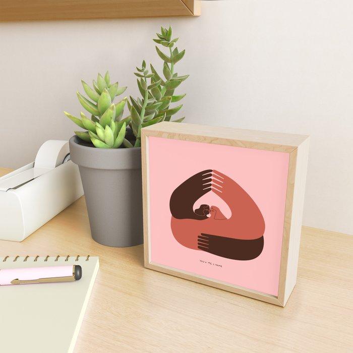 U+Me=Home Framed Mini Art Print