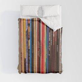 Indie Rock Vinyl Records Duvet Cover