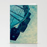 ferris wheel Stationery Cards featuring Ferris Wheel by Tracy Wong