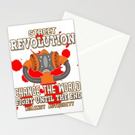This is the awesome revolutionary Tshirt Those who make peaceful revolution Change the world & fight Stationery Cards