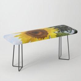 une seule fleur Bench