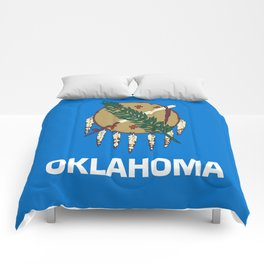 flag of oklahoma-Oklahoma,south,Oklahoman,Okie, usa,america,Tulsa,Norman,Broken Arrow Comforters