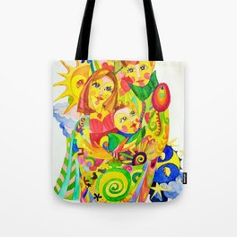 The Family, illustration made by Ines Zgonc Tote Bag
