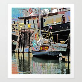 A Harbor view of Coos Bay Art Print
