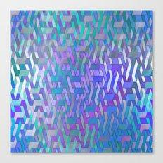 Endless Steps (purple-turquoise) Canvas Print
