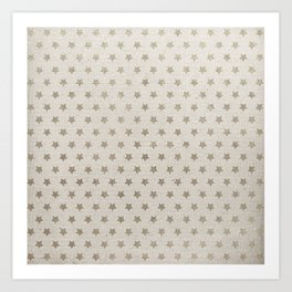 Canvas design with Stars and a Great Texture Art Print