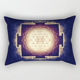 Sri Yantra IX Rectangular Pillow