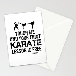 Karate martial arts sports power struggle gift Stationery Cards