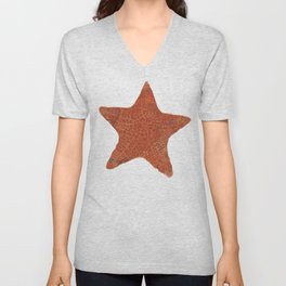 Watercolor Starfish Unisex V-Neck