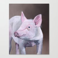 piglet Canvas Prints featuring Piglet by LouiseDemasi
