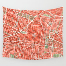 Mexico city map classic Wall Tapestry