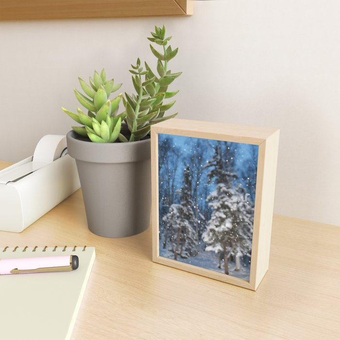 Bright Winter Snow Framed Mini Art Print