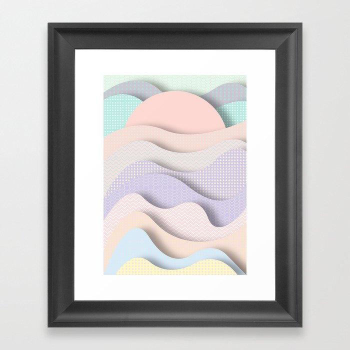 Wave I Framed Art Print