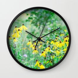 A field of daisies Wall Clock
