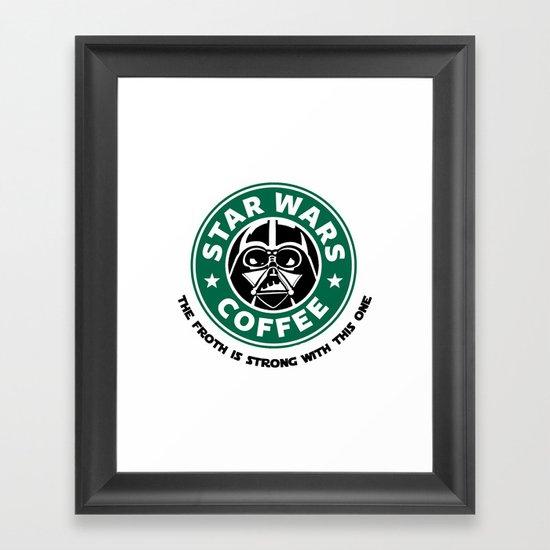 Star Wars Coffee Framed Art Print