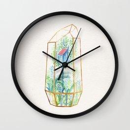 Terrarium Garden III Wall Clock