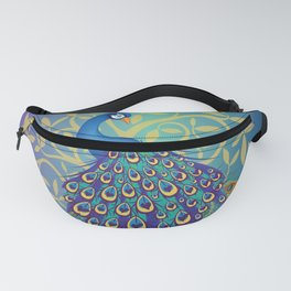 Peacock In A Tree Fanny Pack