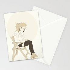 girl sitting Stationery Cards