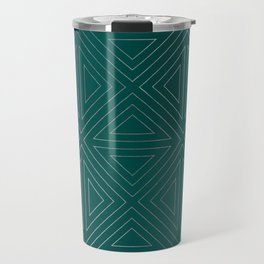 Angled Emerald & Silver Travel Mug