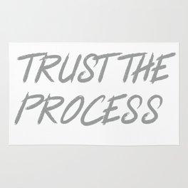 Trust The Process Workout Motivational Design Rug