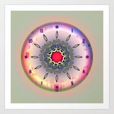 Spring Time - Floral Clock Art Print