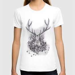 Deer with a Wreath of Roses T-shirt